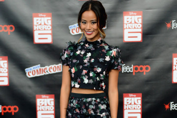 Jamie Chung's Two-Piece Floral Look