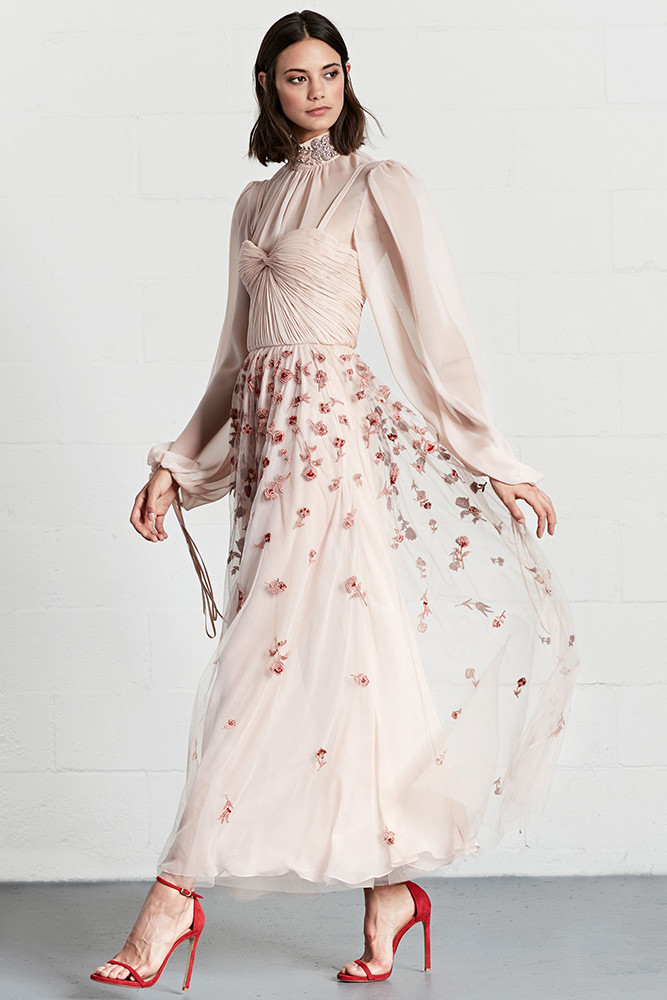 Dennis Basso Resort 2018 The Most Pinterest Worthy Dresses From Resort 2018 Livingly