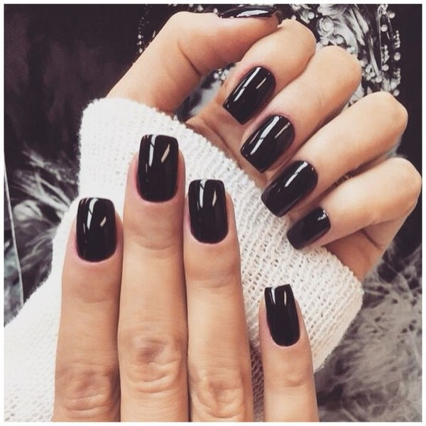 Shiny Black Nails