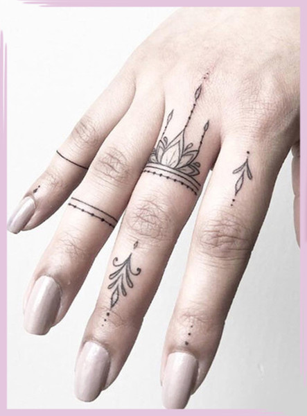 Fresh And Creative Finger Tattoos
