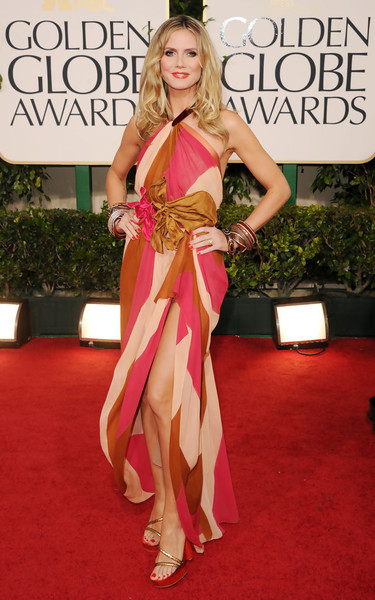 Heidi Klum in Marc Jacobs at the 2011 Golden Globes