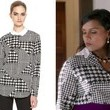Mindy Kaling's Houndstooth Blouse on 'The Mindy Project'
