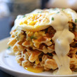 Thanksgiving Waffles With Fried Egg & Gravy