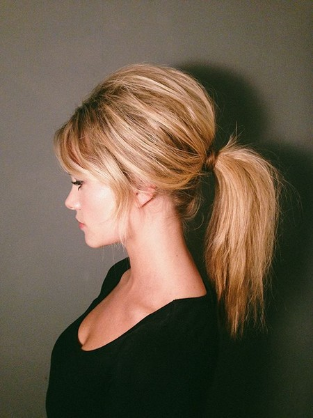 Wear A Teased Romantic Ponytail