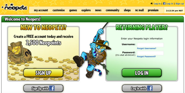 One word: NEOPETS.