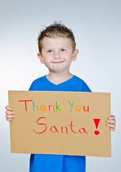 Send Santa a thank you note