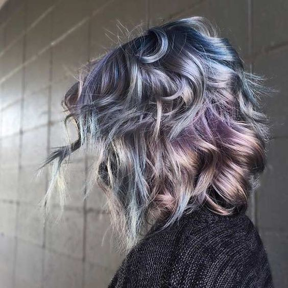 Metallic Blue and Purple