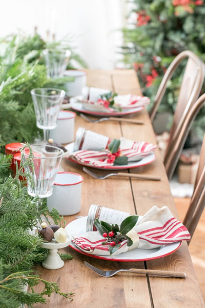 A Holly Adorned Table