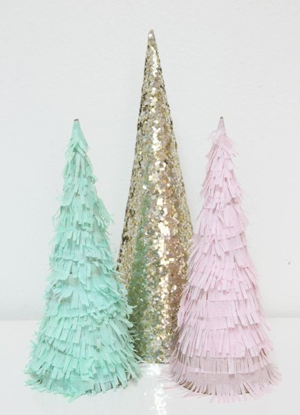 Fringe Christmas Trees