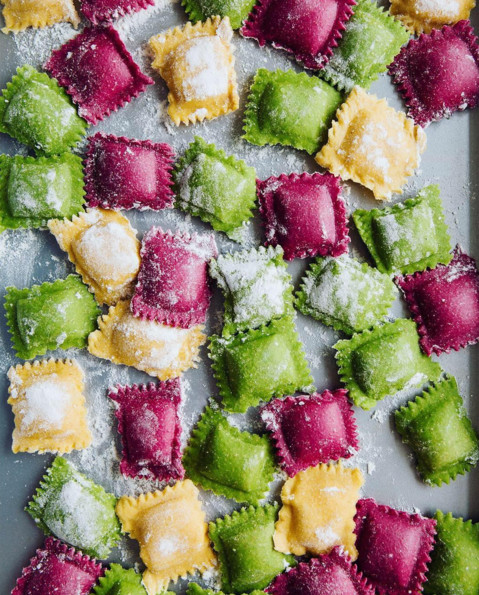 Colorful Raviolis