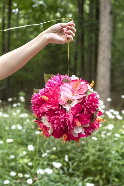 DIY Hanging Flower Balls