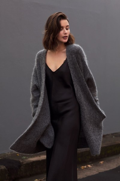 Cozy Up a Slip Dress