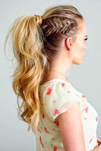 Side Fishtail Ponytail - The Coolest Ponytail Hairstyles ...
