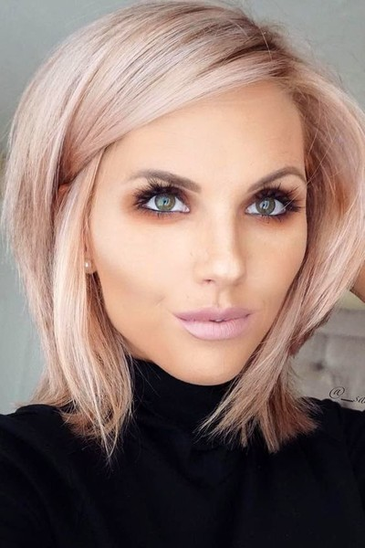 Pastel Pink The Most Popular Short Hairstyles On Pinterest Livingly