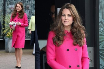 Kate Middleton Wears Pink at Her Last Engagement Before Maternity Leave