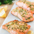 Lemon Garlic Herb Crusted Salmon