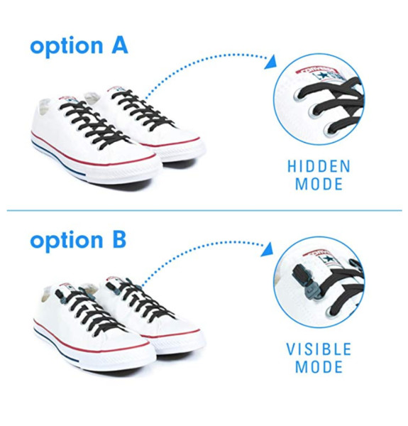 No Tie Shoelaces System