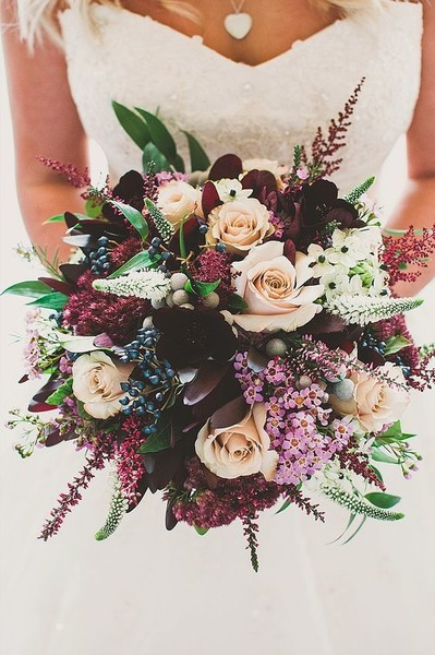 Maroon & Peach Autumn Bouquet