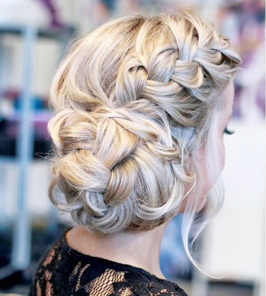 Messy Braided Bun Updo - 101 Pinterest Braids That Will ...