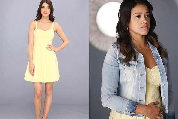 Gina Rodriguez's Pastel Yellow Day Dress on 'Jane the Virgin'