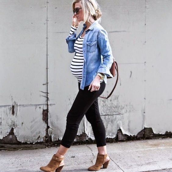 Try denim and stripes