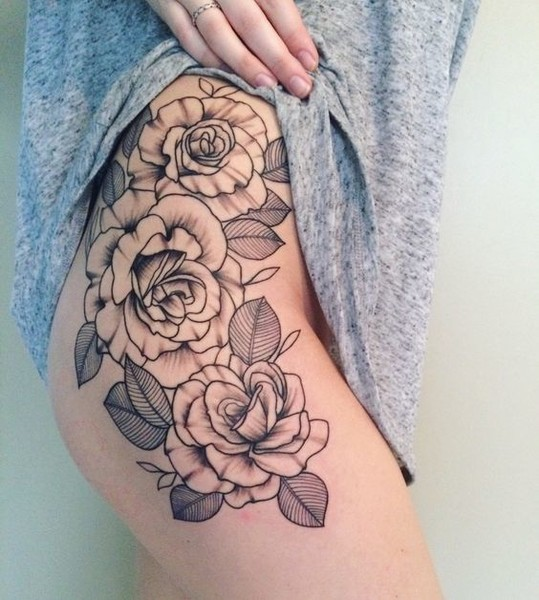 Hip Heights Stunning Floral Tattoos That Are Beautifully