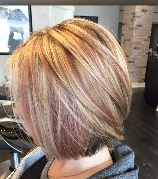 Blonde And Rose Gold Highlights