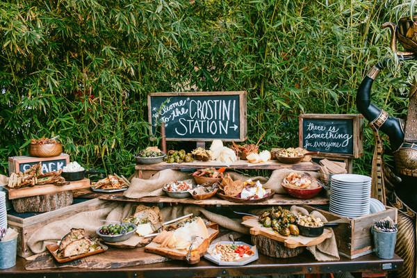 Crostini station epic wedding food ideas for the couple that just crostini station junglespirit Gallery