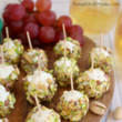 Cheese Grape and Pistachio Truffles