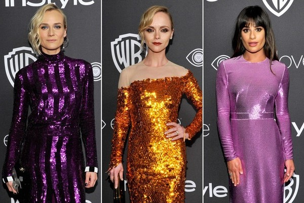 All the Cool Girls Were Wearing Insanely Sparkly Dresses to the 2017 Golden Globes After Party