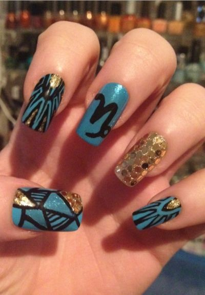 Capricorn-Inspired Nails