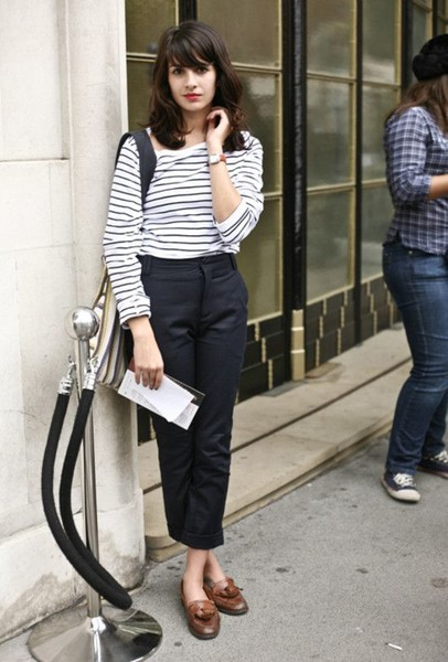 Perfectly Cropped Pants Chic French Girl Outfits On