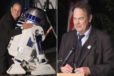 Dan Aykroyd, Todd Fisher Joined By R2-D2 at Carrie Fisher & Debbie Reynolds' Public Memorial