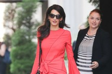 Look of the Day: Amal Clooney's Scarlet Number