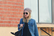 .Nicole Richie wears a pair of aviator sunglasses and a beanie as she leaves the gym following an afternoon workout in Los Angeles.