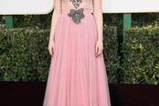 Felicity Jones Embroidered Dress