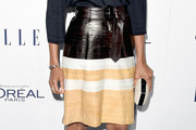 Zoe Saldana Knee Length Skirt