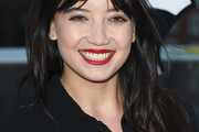 Daisy Lowe Long Straight Cut with Bangs