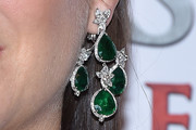 Marion Cotillard Gemstone Chandelier Earrings