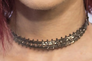 Lily Collins Sterling Choker Necklace
