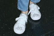 Emma Roberts Leather Sneakers