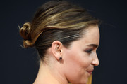 Emilia Clarke Twisted Bun