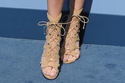 Khloe Kardashian Lace-Up Heels