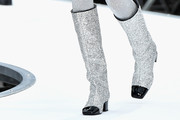 Lindsey Wixson Knee High Boots