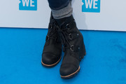 Lily Collins Wedge Boots