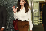 Angelina Jolie Button Down Shirt