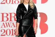 Mollie King Leather Dress