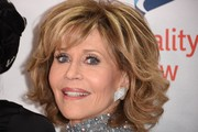 Jane Fonda Curled Out Bob