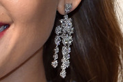 Jessica Alba Diamond Chandelier Earrings