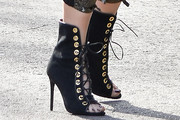 Gwen Stefani Lace Up Boots
